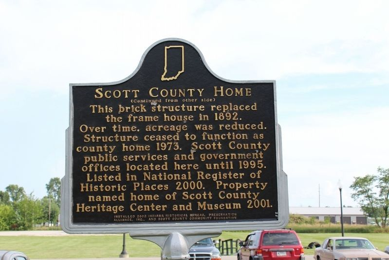 Scott County Home Marker (Side 2) image. Click for full size.