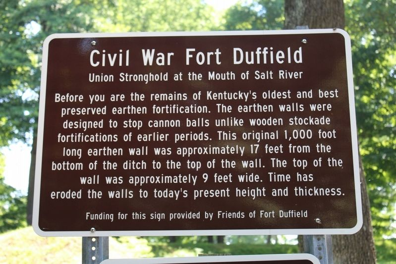 Civil War Fort Duffield Marker image. Click for full size.