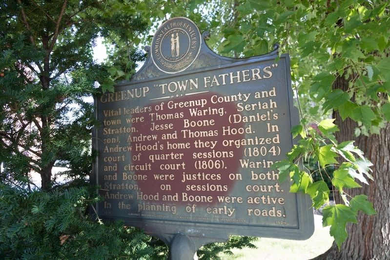 "Greenup ""Town Fathers"" Marker image. Click for full size."