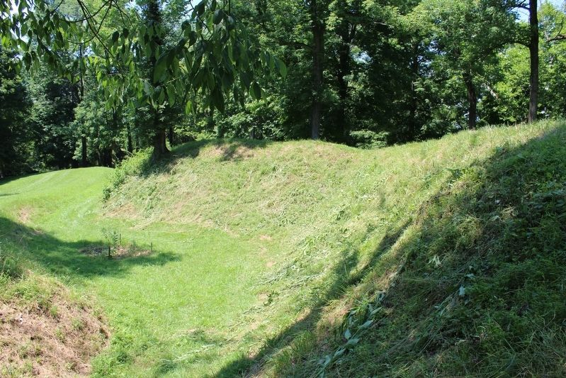 U.S. Fort Duffield Earthen Wall image. Click for full size.