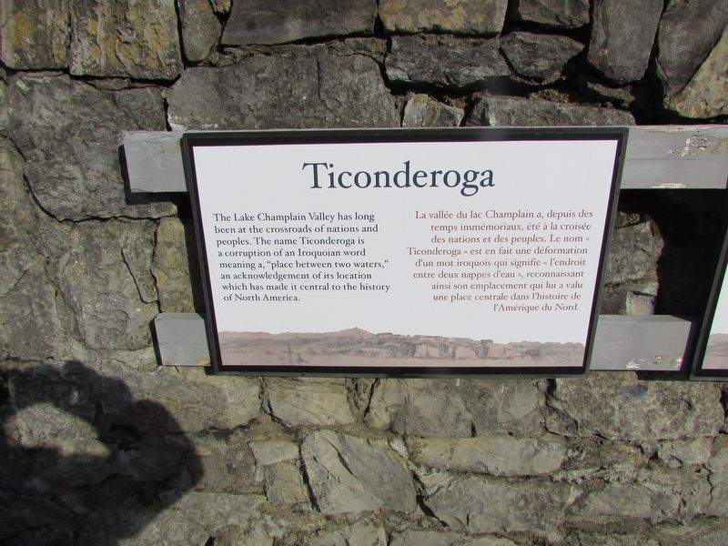 History of Fort Ticonderoga Marker image. Click for full size.