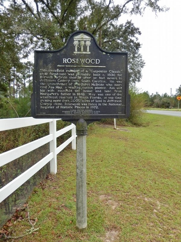 Rosewood Marker (<i>tall view; looking south along U.S. Highway 19</i>) image, Touch for more information