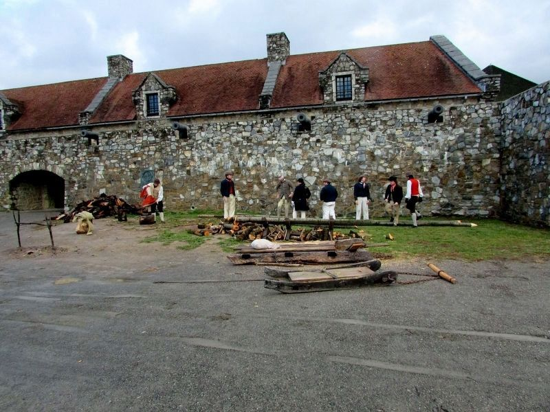 Soldiers Outside Fort Ticonderoga image. Click for full size.