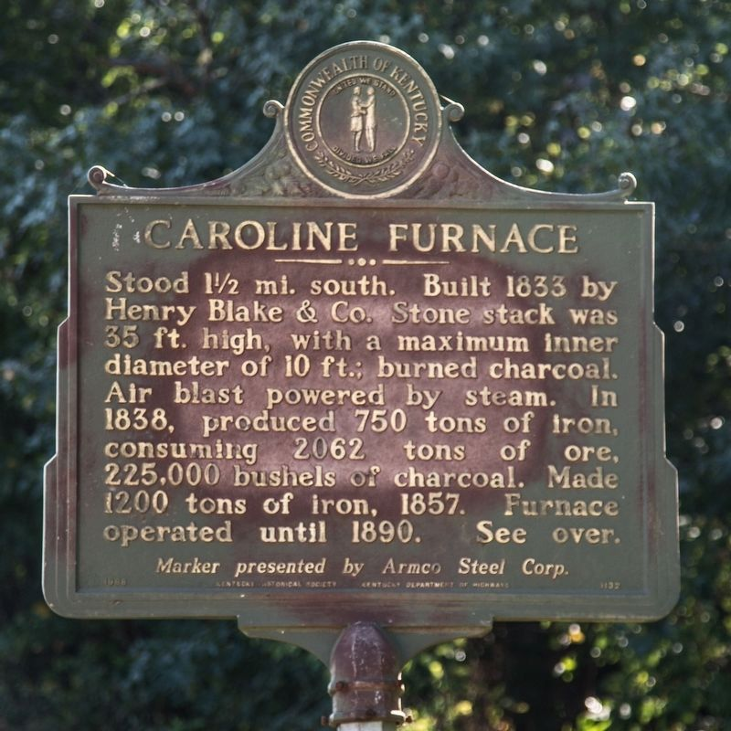 Caroline Furnace face of marker image. Click for full size.