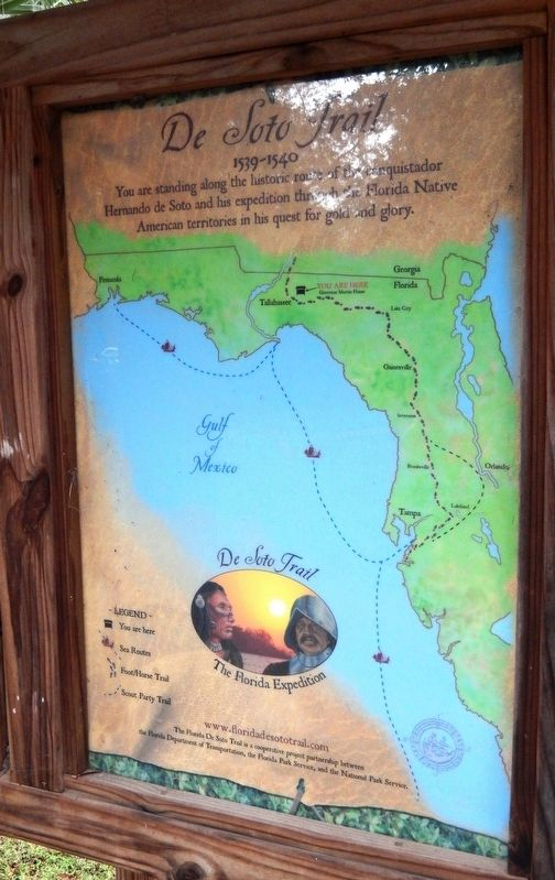 Florida De Soto Trail Map (<i>left-most of three panels in the kiosk</i>) image. Click for full size.