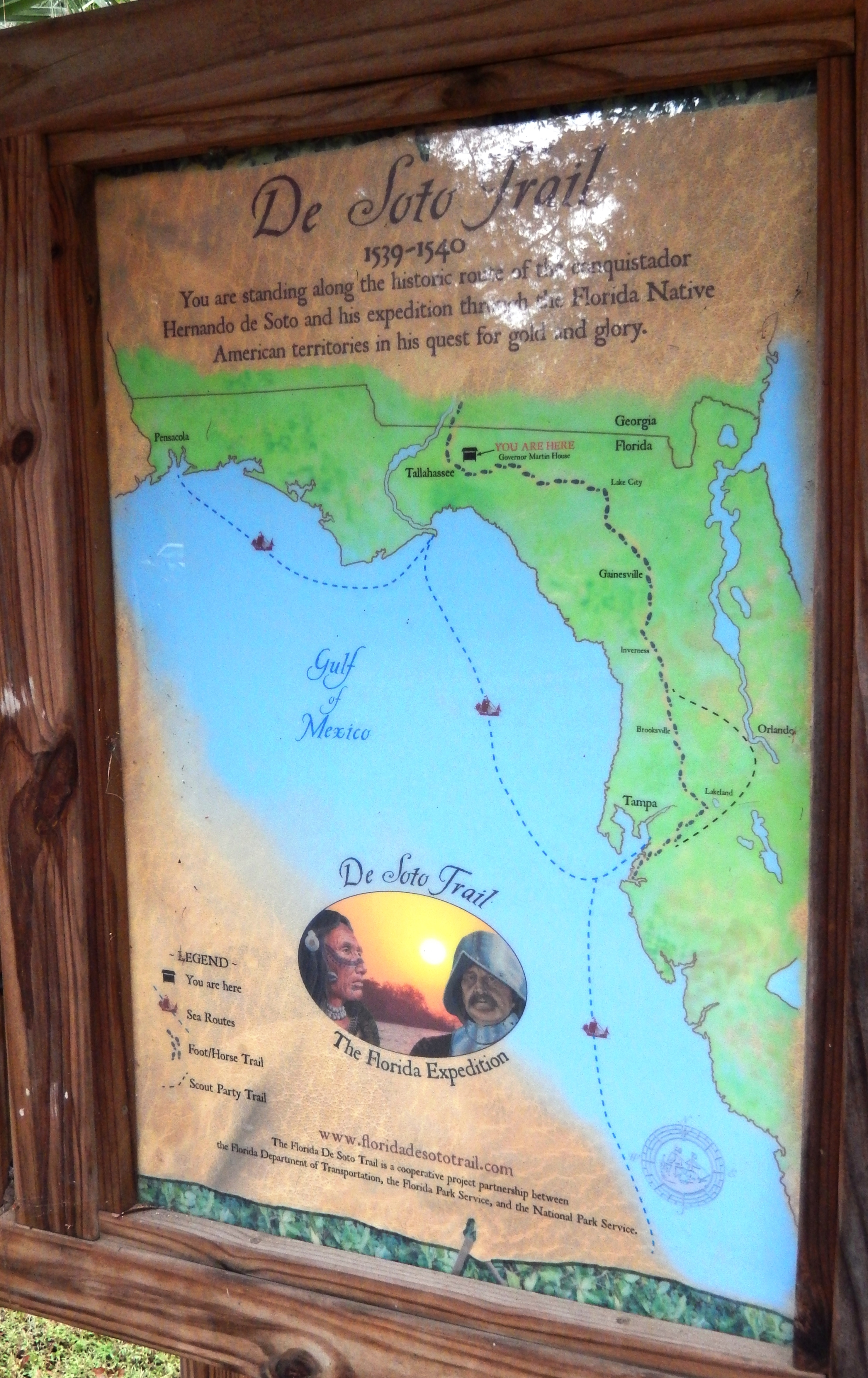 Florida De Soto Trail Map (<i>left-most of three panels in the kiosk</i>)