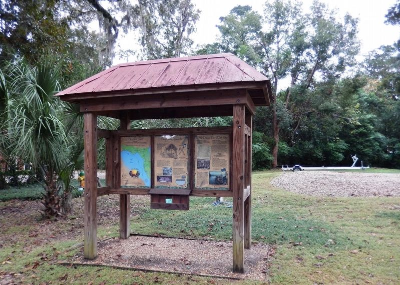 Land of the Apalachee Marker Kiosk (<i>wide view</i>) image. Click for full size.
