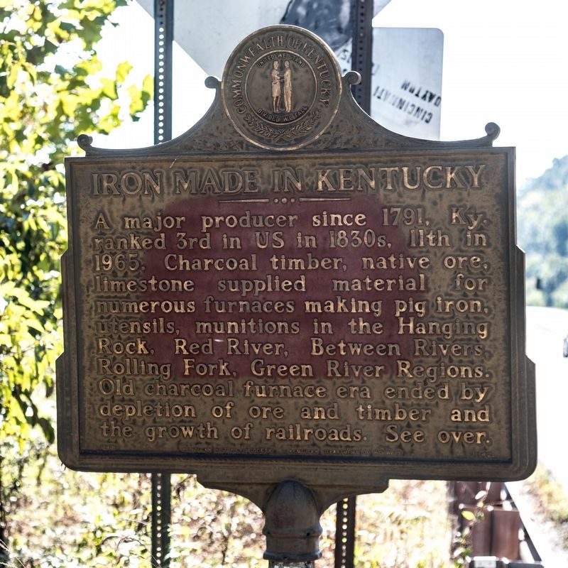 Iron Made in Kentucky side of marker image. Click for full size.