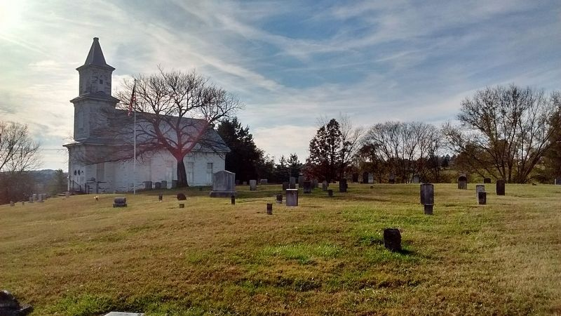 Blue Springs Church and Cemetery image. Click for full size.