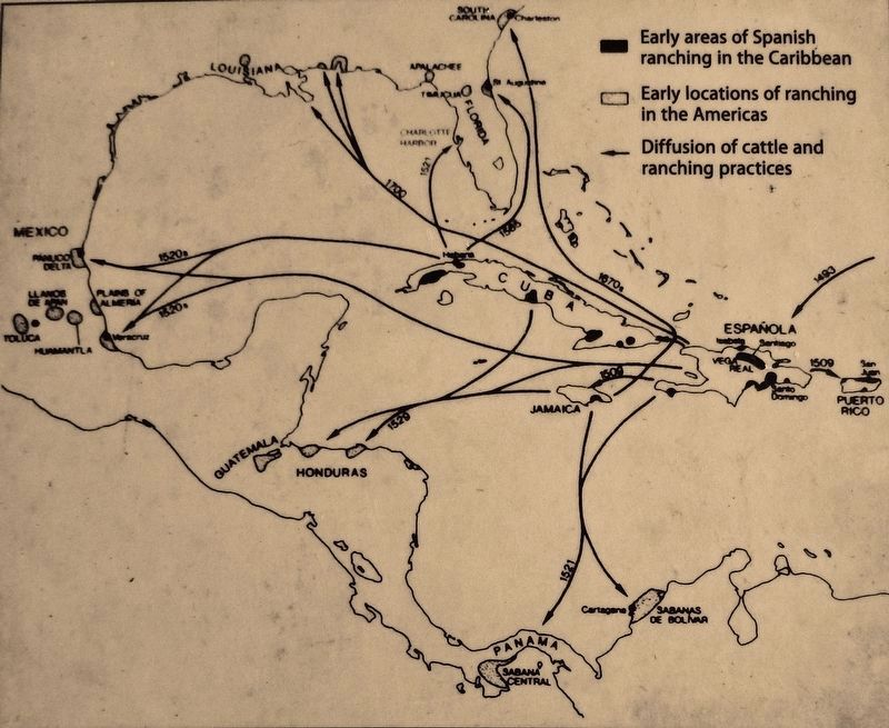 Marker detail: Colonial Cattle Ranching in the West Indies and Diffusion to the Americas, 1509-1700 image. Click for full size.