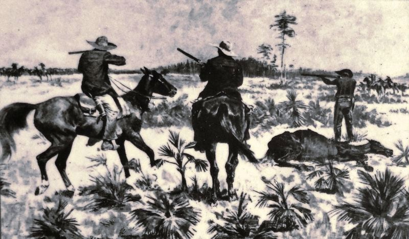 Marker detail: The Florida frontier in 1821 image. Click for full size.