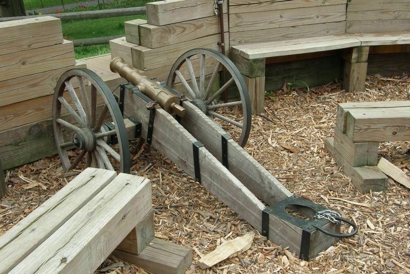 "2 Pounder ""grasshopper"" cannon replica within The Redoubt. image. Click for full size."