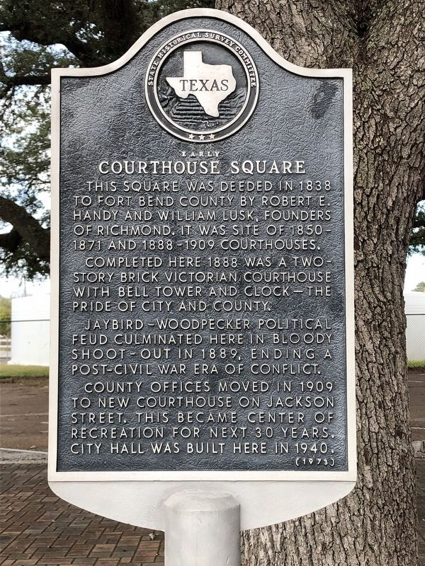 Early Courthouse Square Marker image. Click for full size.