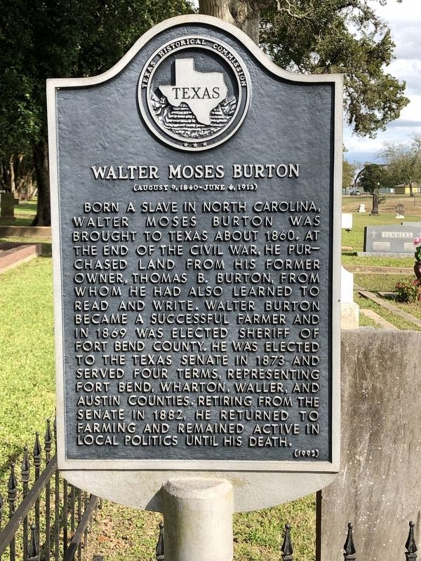 Walter Moses Burton Marker image. Click for full size.