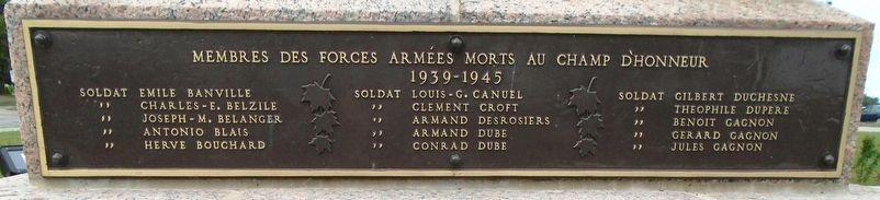 Monument commémoratif de guerre / War Memorial image. Click for full size.