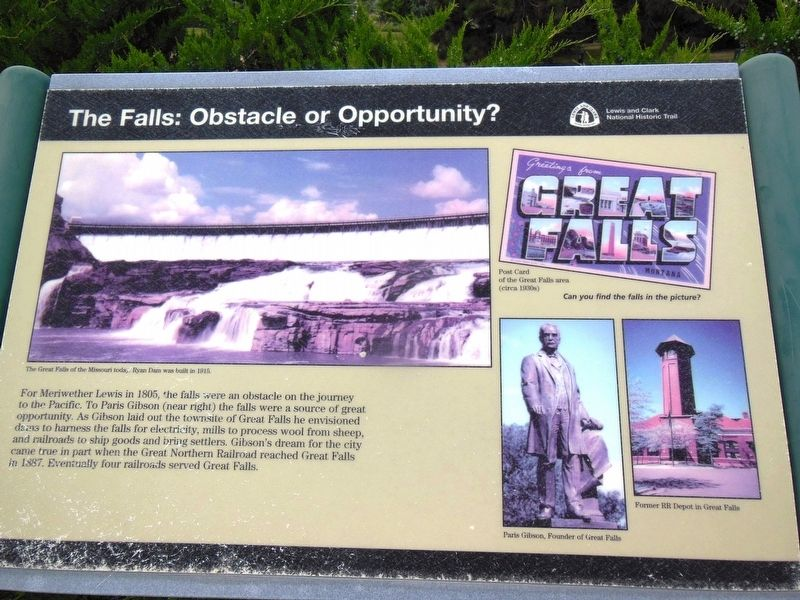 The Falls: Obstacle or Opportunity Marker image. Click for full size.