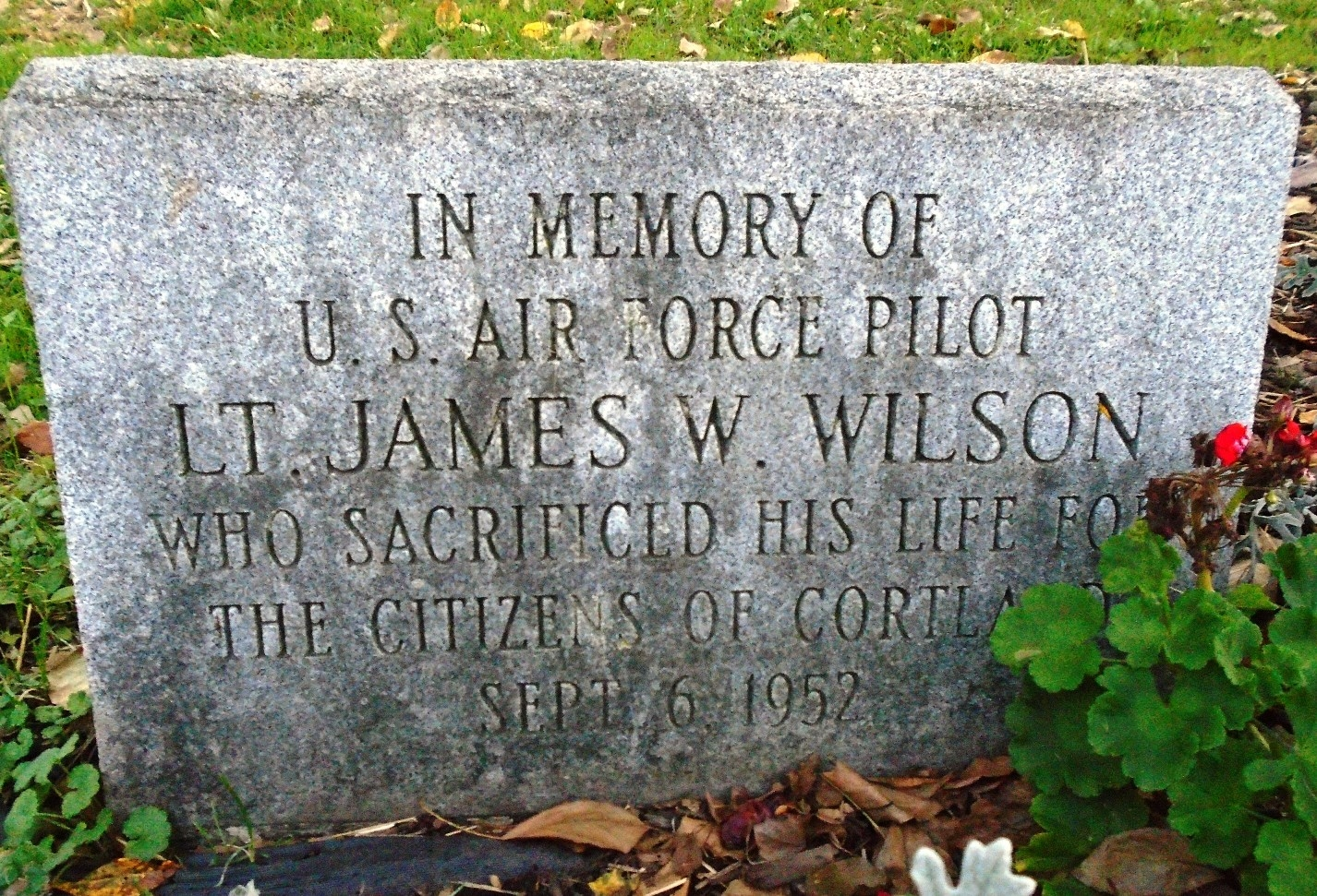 Lt. James W. Wilson Marker