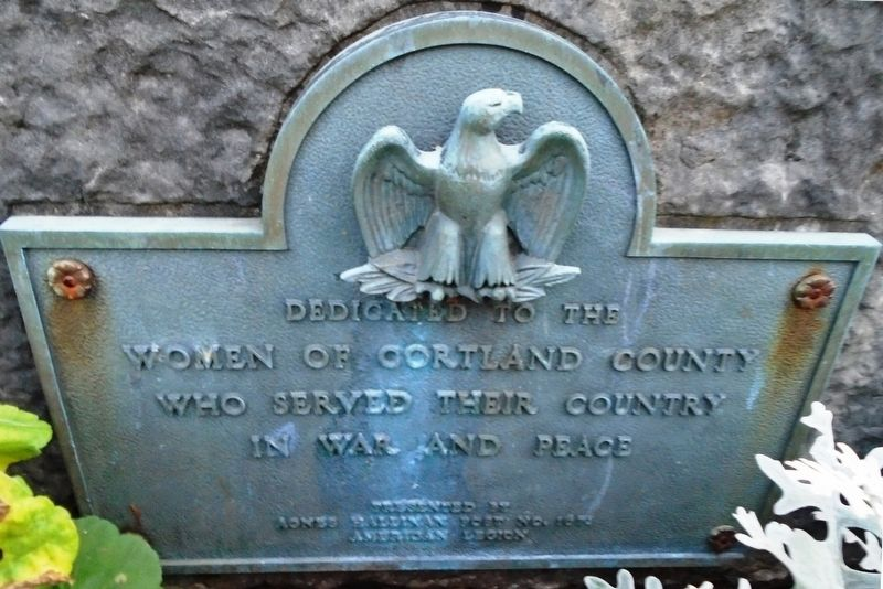 Cortland County Women Veterans Memorial image. Click for full size.
