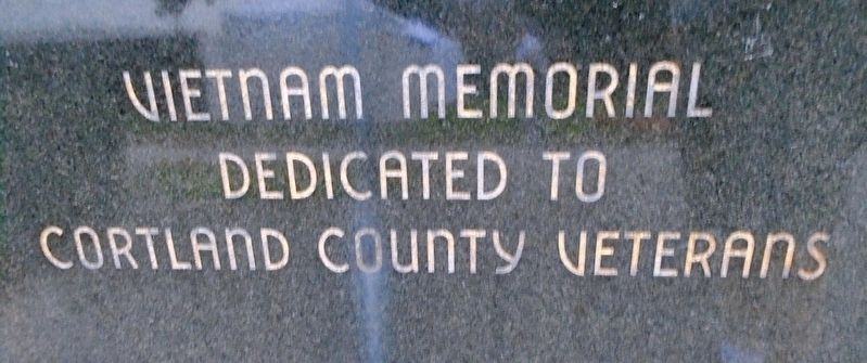 Cortland County Vietnam War Memorial image. Click for full size.
