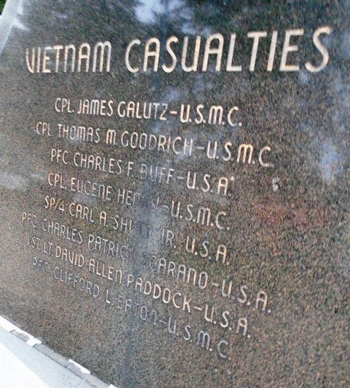 Cortland County Vietnam War Memorial Honored Dead image. Click for full size.