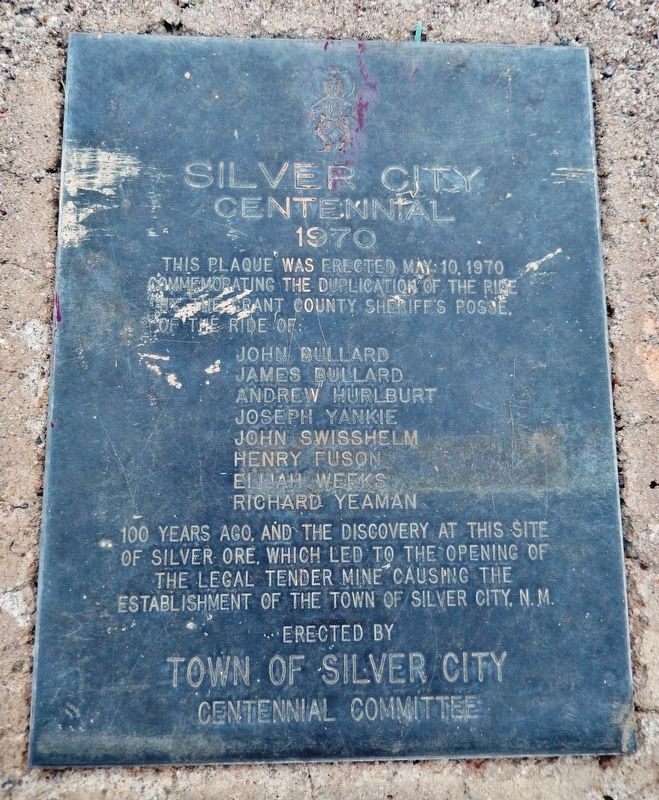 Silver City Centennial Marker image. Click for full size.