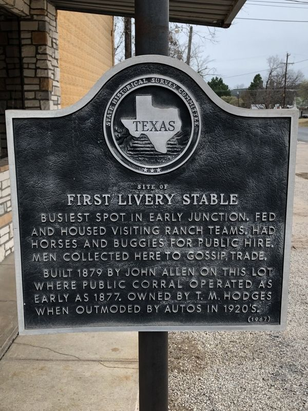 Site of First Livery Stable Marker image. Click for full size.