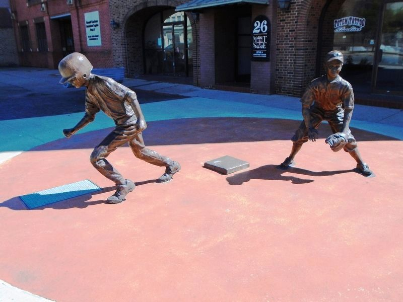"""Bases Loaded"" Sculpture - Second Base image. Click for full size."