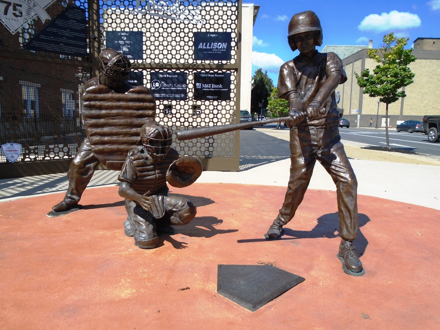 """Bases Loaded"" Sculpture - Home Plate"