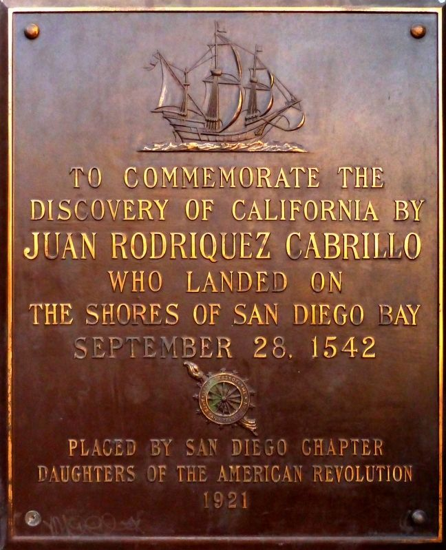 The Discovery of California Marker image. Click for full size.