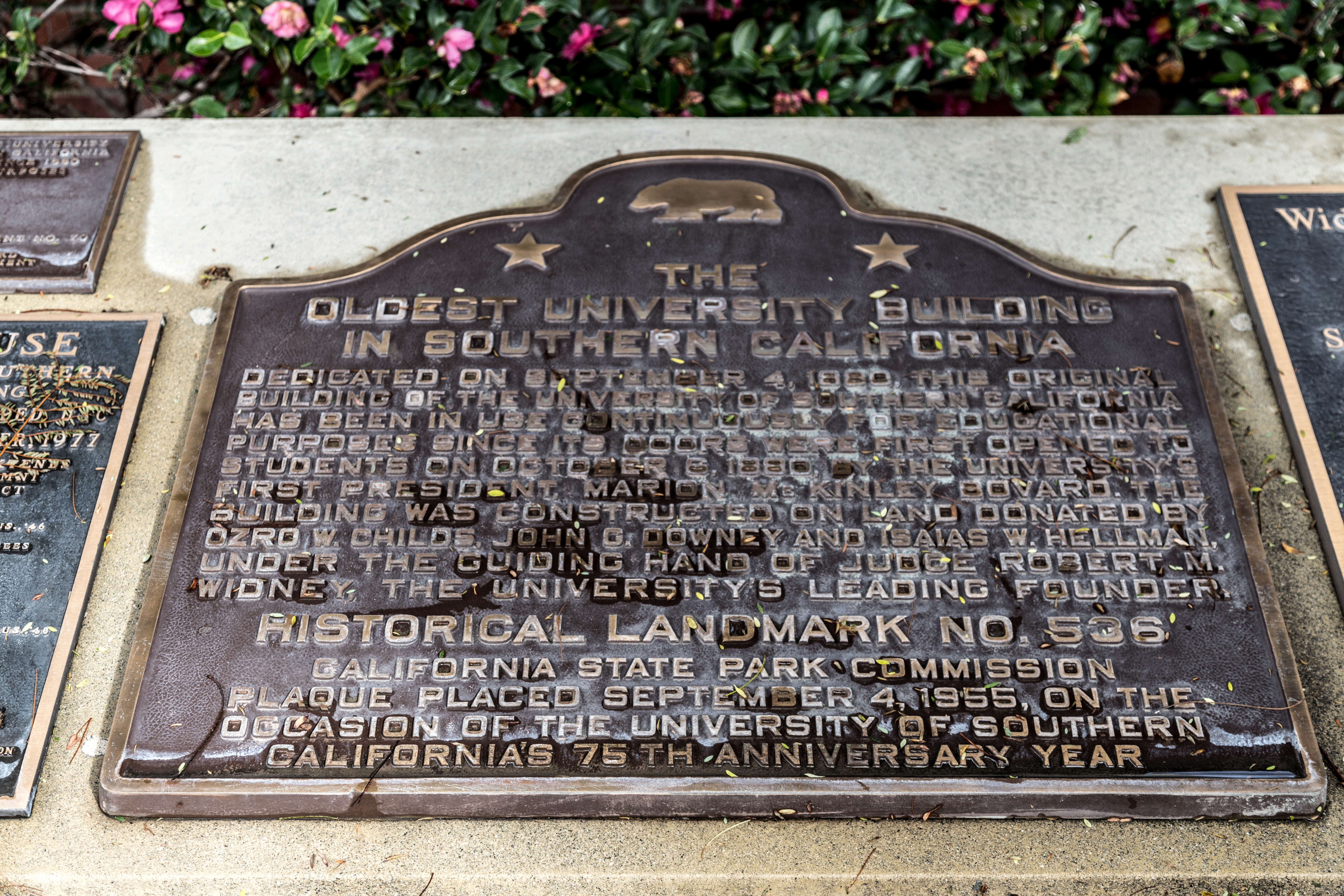 The Oldest University Building in Southern California Marker