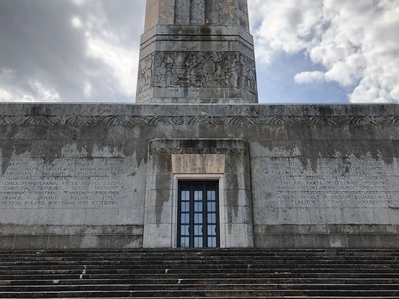 San Jacinto Monument North Facade image. Click for full size.