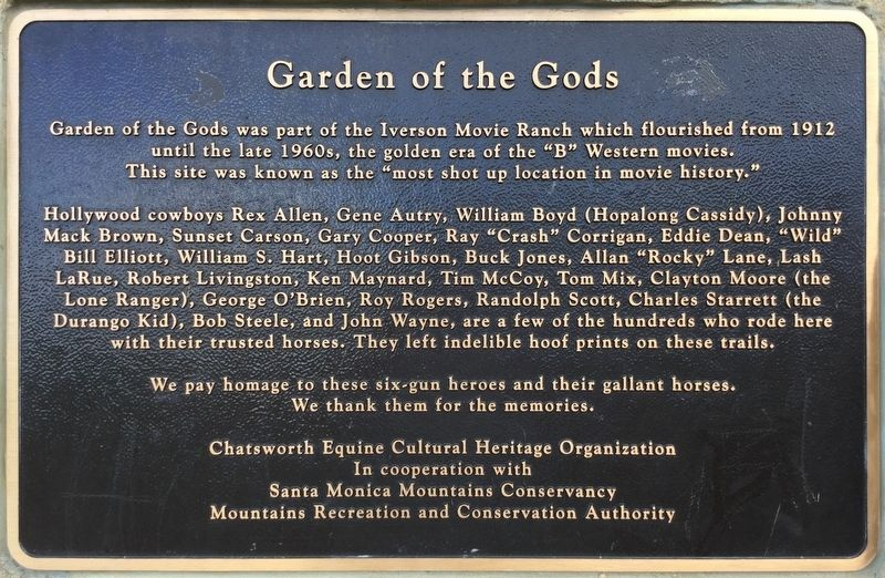 Garden of The Gods Marker image. Click for full size.