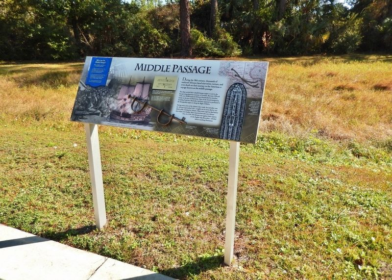 Middle Passage Marker (<i>wide view</i>) image. Click for full size.