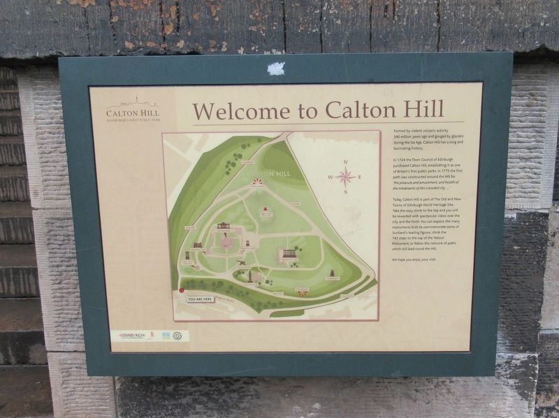 Calton Hill Marker image. Click for full size.