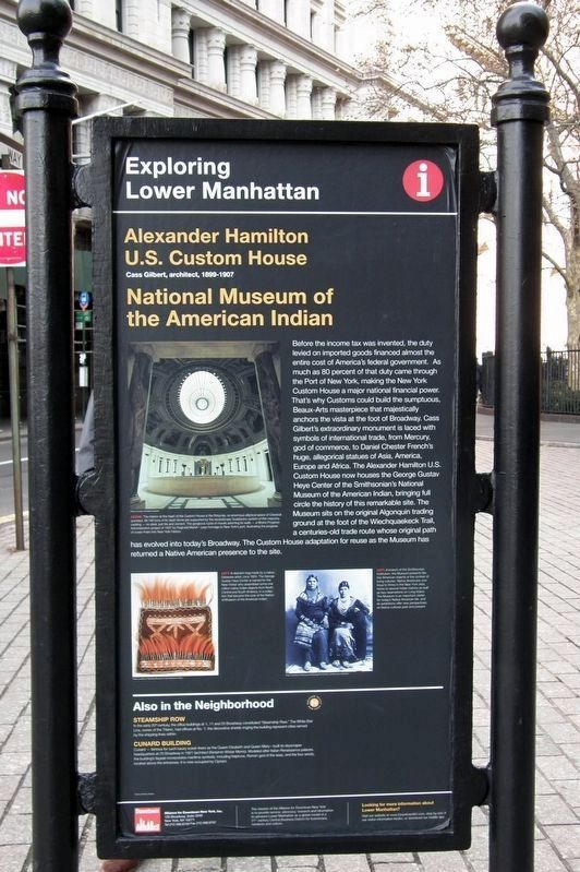 Alexander Hamilton U.S. Custom House / National Museum of the American Indian Marker image. Click for full size.