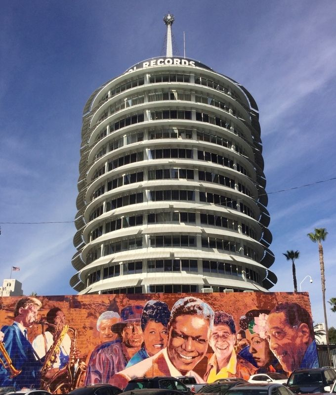 Capitol Records Building and Mural image. Click for full size.