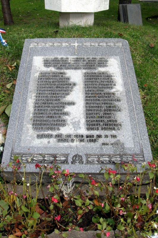 Immaculate Heart of Mary Parish WWII Memorial image. Click for full size.
