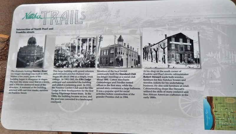 Intersection of North Pearl and Franklin streets Marker image. Click for full size.