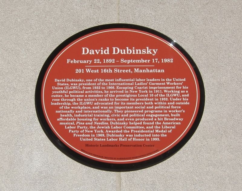 David Dubinsky Marker image. Click for full size.