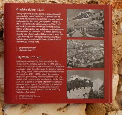 City Walls, 15th cent. Marker image. Click for full size.