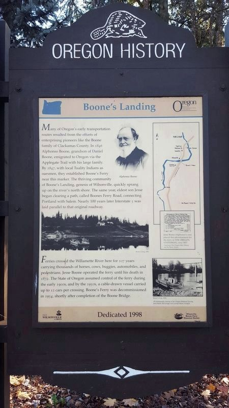 Boone's Landing Marker image. Click for full size.