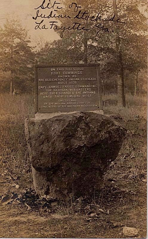 An additional, earlier Fort Cumming Marker image. Click for full size.