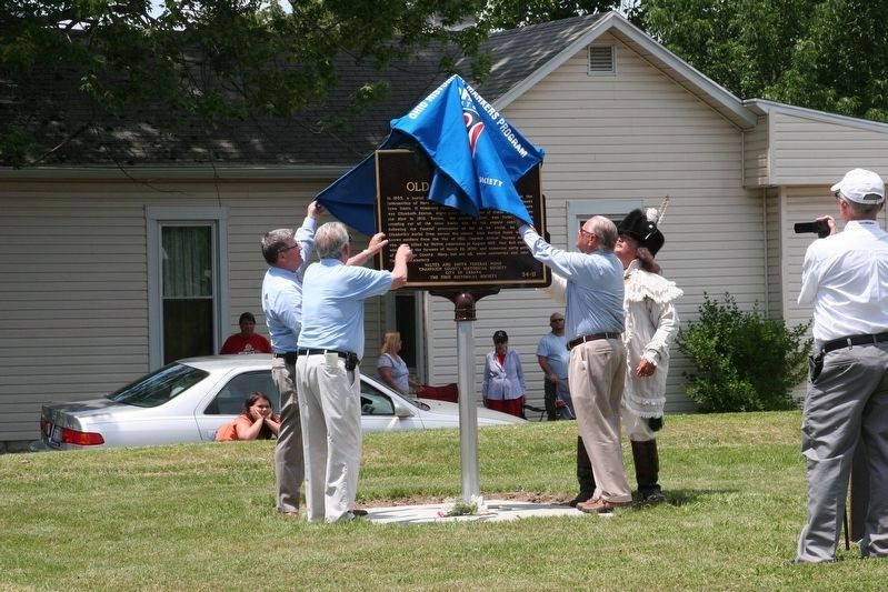 Unveiling of the marker image. Click for full size.