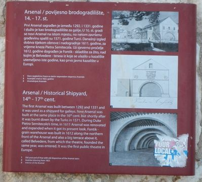 Arsenal / Historical Shipyard, 14th-17th cent. Marker image. Click for full size.