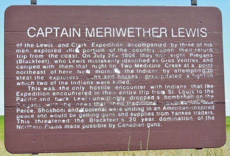 Captain Meriwether Lewis Marker image. Click for full size.