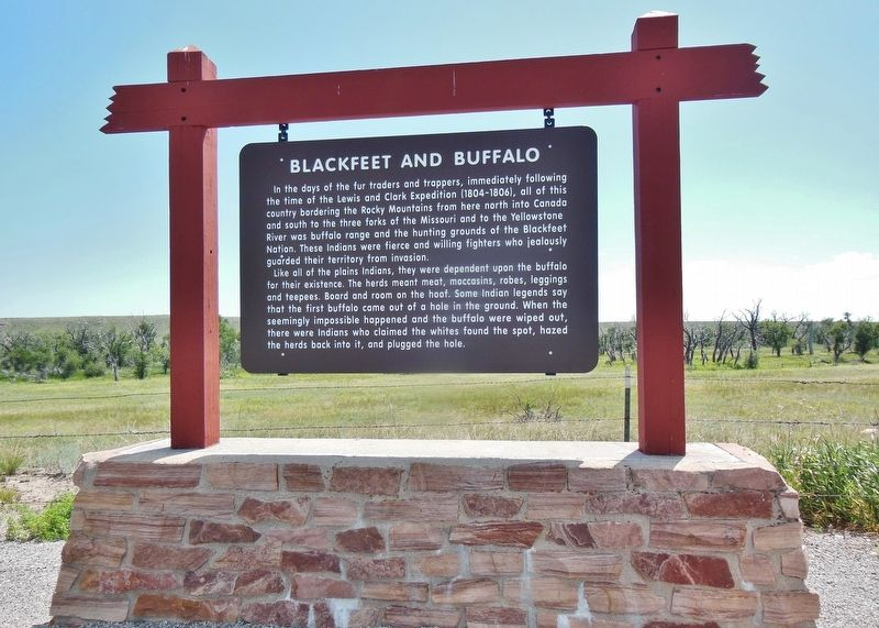 Blackfeet and Buffalo Marker (<i>wide view</i>) image, Touch for more information