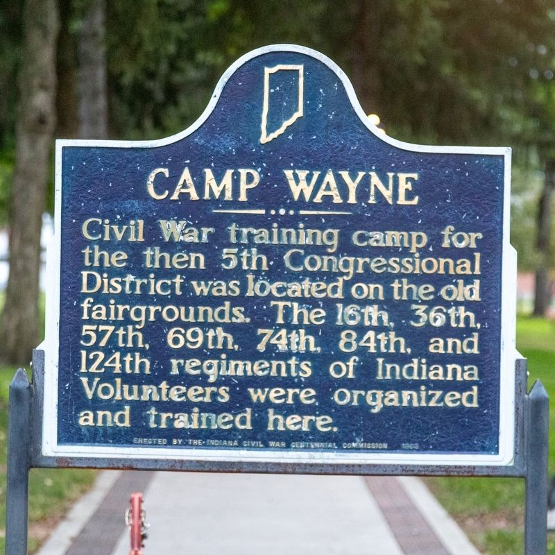 Camp Wayne Marker image. Click for full size.