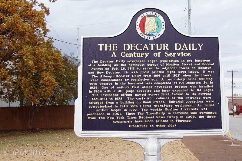 The Decatur Daily Marker image. Click for full size.