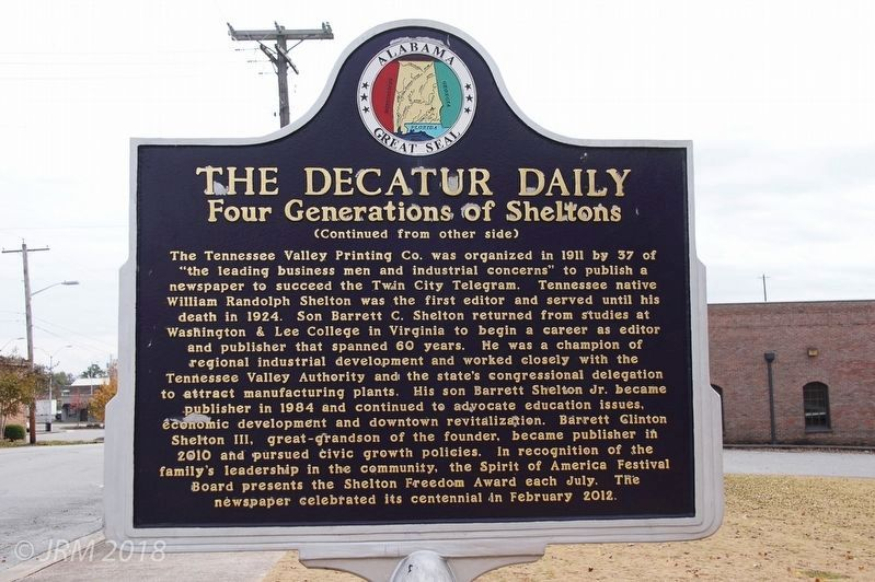 The Decatur Daily Marker Reverse image. Click for full size.
