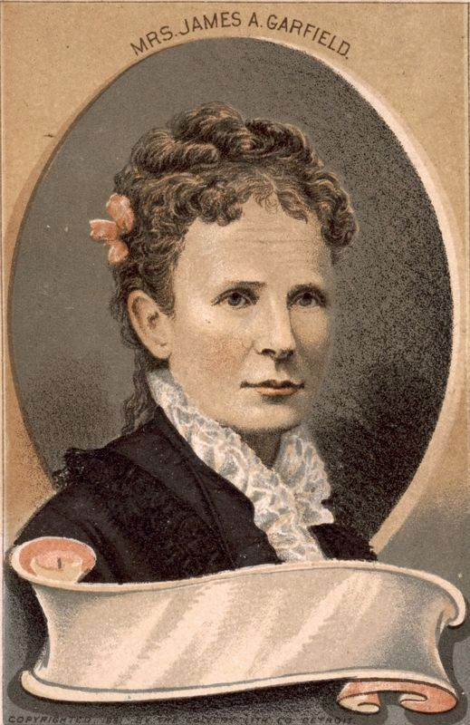 Mrs. James A. Garfield image. Click for full size.